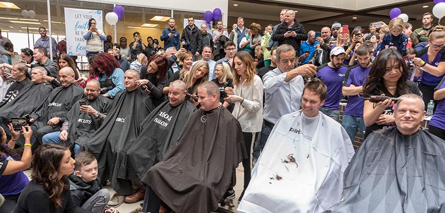 Saving by Shaving event with Tom Brady